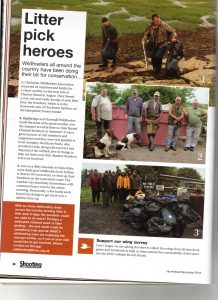 BASC magazine litter pick article